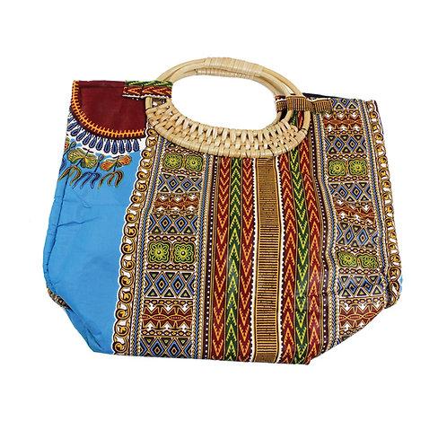 Turquoise Tribal Print Bag