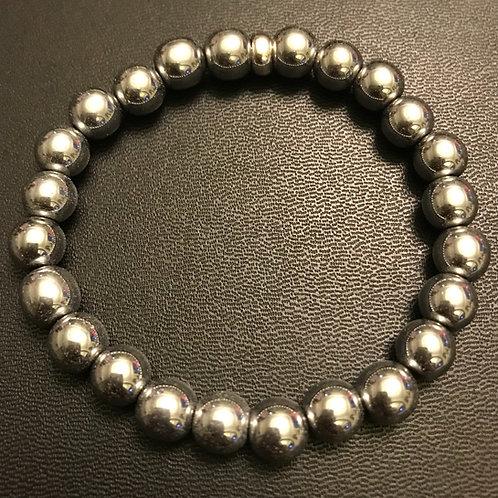 Silver Hematite Healing Bracelet