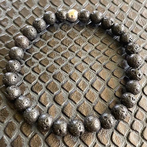 6mm Lava Stone Healing Bracelet
