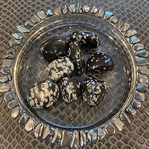 Tumbled Snowflake Obsidian