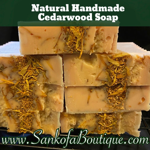 Natural Handmade Cedarwood Soap