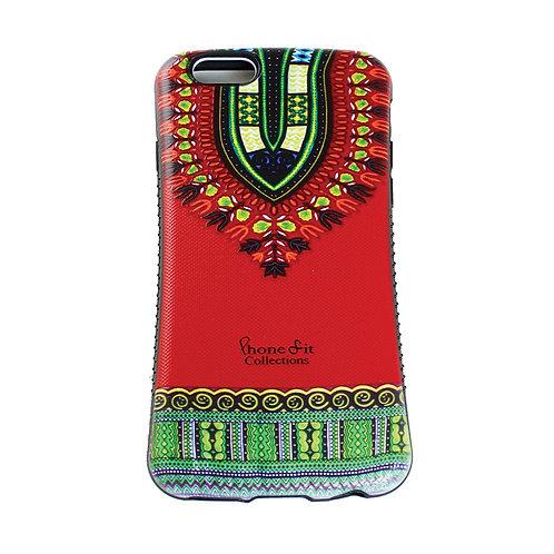 Red Dashiki Print IPhone 6 Case