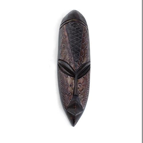 Wood and Metal Ghana Fang Mask