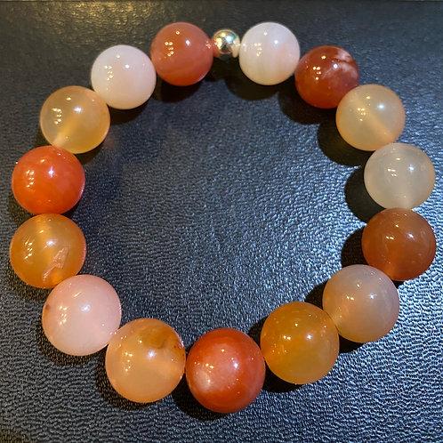 12mm Carnelian Healing Bracelet