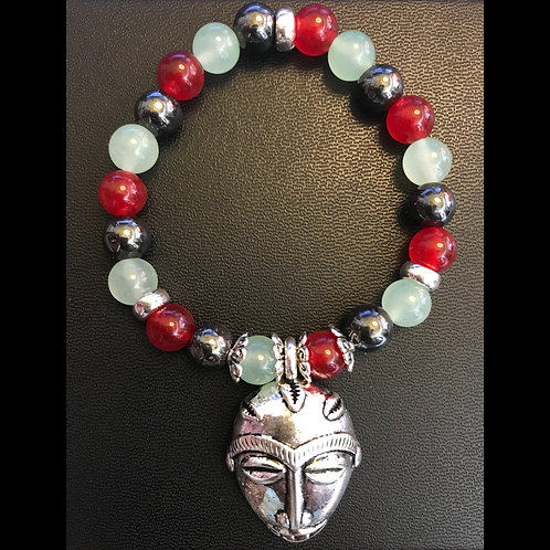 RBG Jade & Hematite Zulu Healing Bracelet