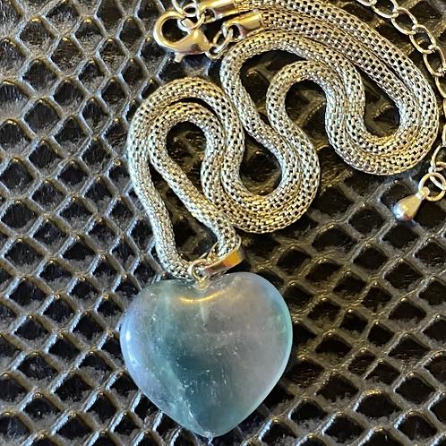 Fluorite Heart Necklace