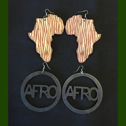 Afro & Africa Earring Combo Pack