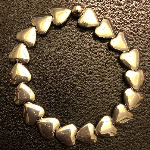 Hematite Heart Healing Bracelet