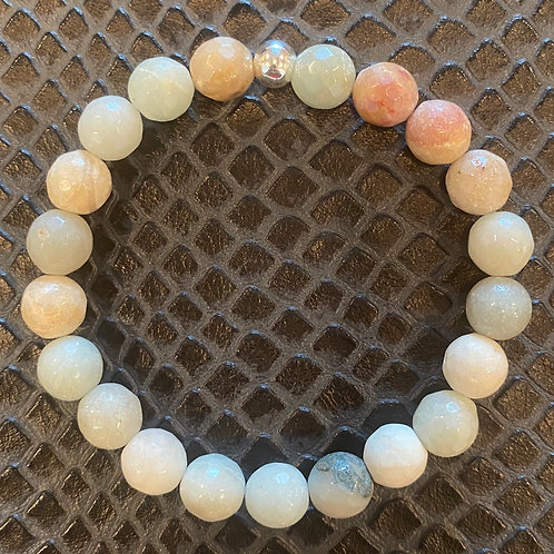 Faceted Amazonite Healing Bracelet