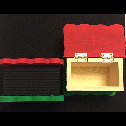 Red, Black, and Green Keepsake Box