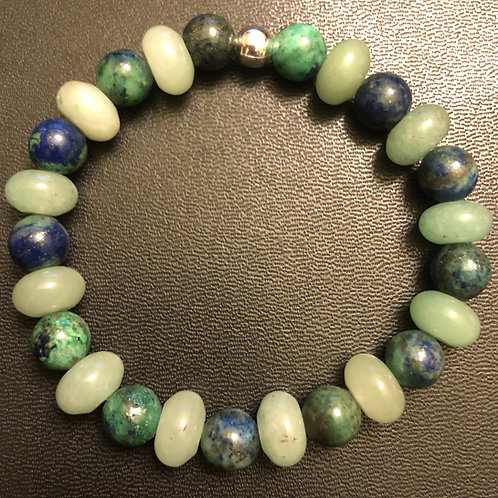 Aventurine and Azurite Healing Bracelet