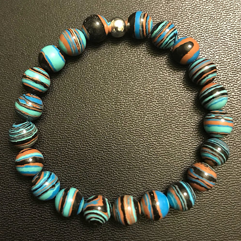 Multi-Colored Malachite Healing Bracelet