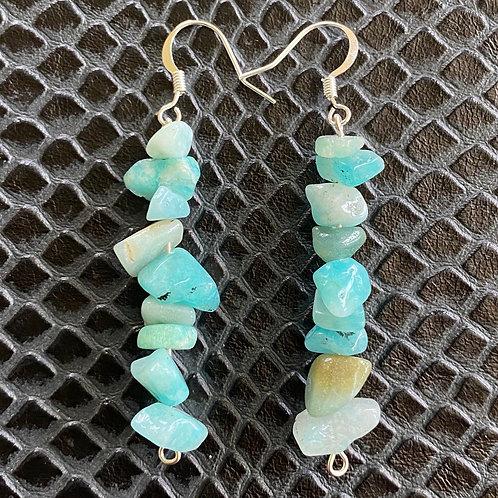 Amazonite Chip Earrings