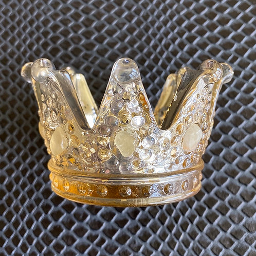 Yellow Calcite Crown Candle Holder