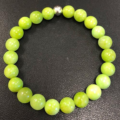 Lime Green Jade Healing Bracelet