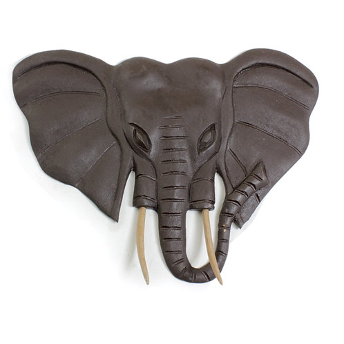 Wooden Elephant Plaque