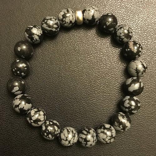 Snowflake Obsidian Healing Bracelet