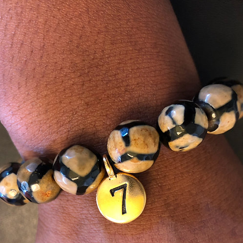 12mm Faceted iGod Healing Bracelet