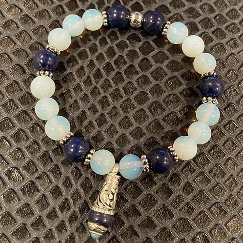 Opalite & Capped Lapis Healing Bracelet