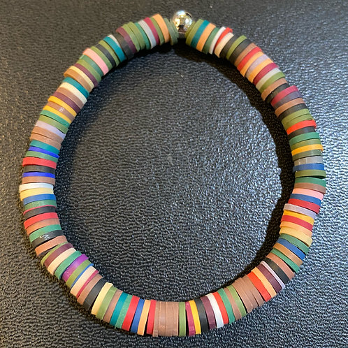 Multicolored Clay Healing Bracelet