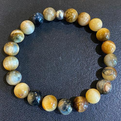 Blue Yellow Tiger Eye Healing Bracelet