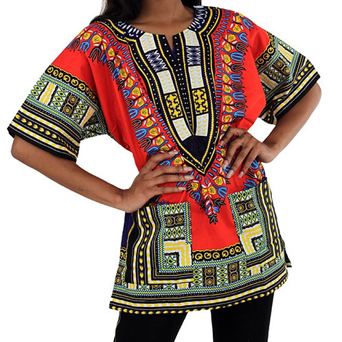 Red Traditional Dashiki