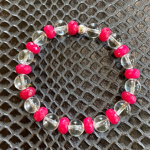 Jade & Clear Quartz Healing Bracelet