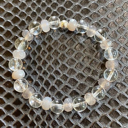 Clear Quartz & Agate Healing Bracelet