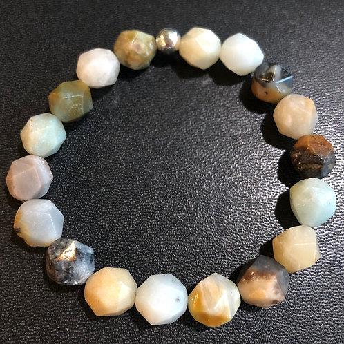 Diamond Cut Amazonite Healing Bracelet