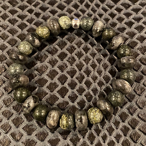 Green Jade and Labrdorite Healing Bracelet