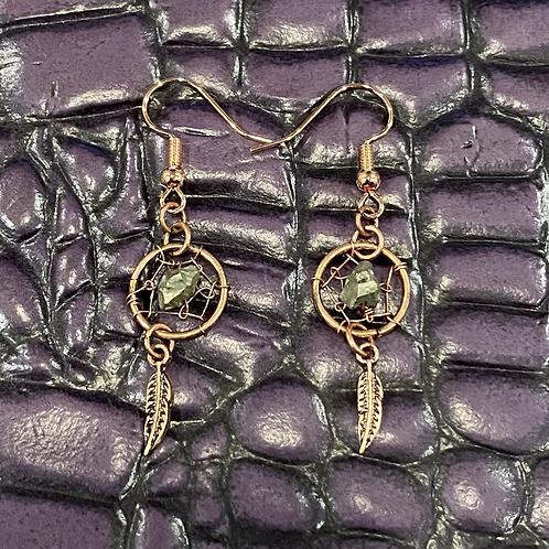 Copper Dream Catcher Earrings