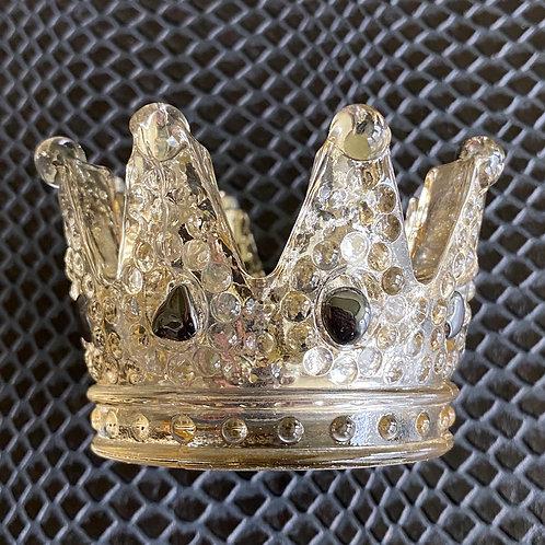 Hematite Crown Candle Holder