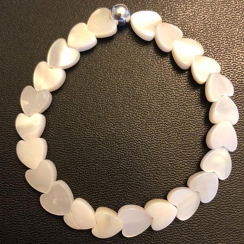 River Shell Hearts Healing Bracelet