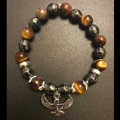 Tiger Eye & Hematite Isis Bracelet