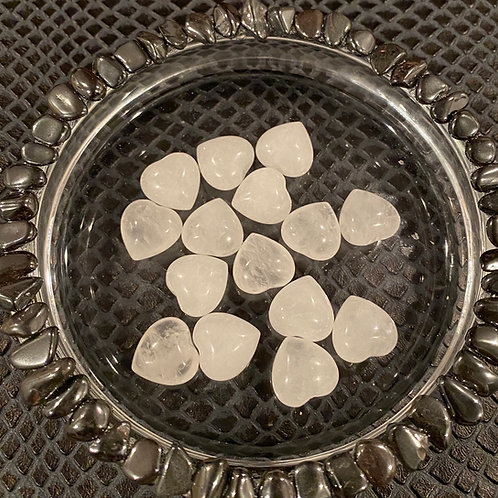 Miniature Clear Quartz Heart