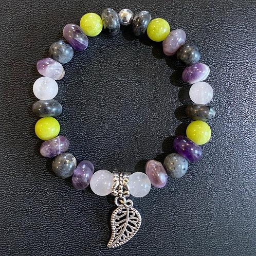 Multi-Stone Leaf Healing Bracelet