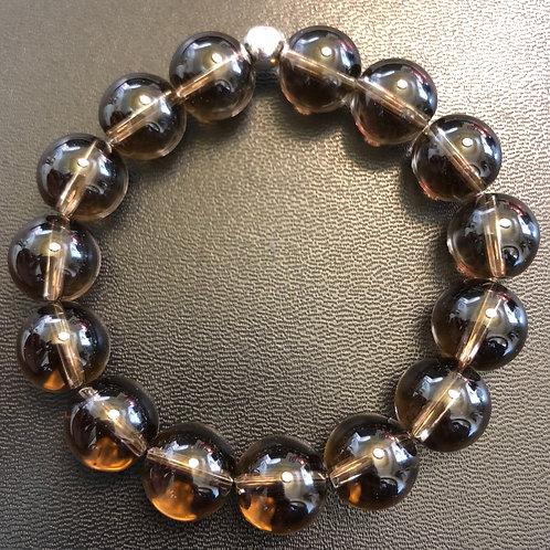12mm Smoky Quartz Healing Bracelet