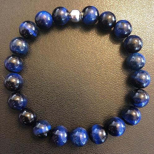 Blue Tiger Eye Healing Bracelet