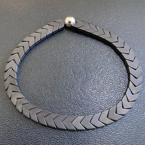 Matte Hematite Arrow Healing Bracelet