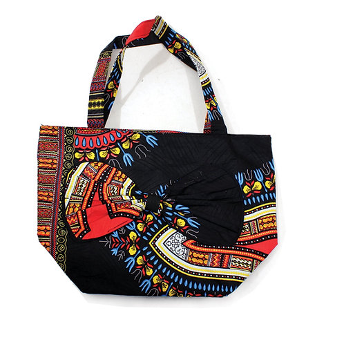Black Dashiki Bow Tie Bag