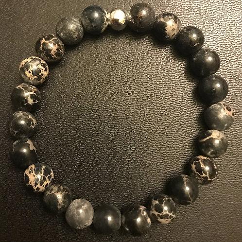 Black Sea Sediment Jasper Healing Bracelet