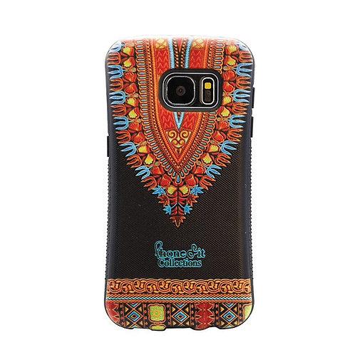 Black Dashiki Print Samsung Galaxy S7 Case