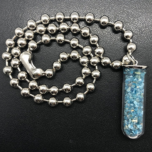 Apatite Glass Capsule Necklace