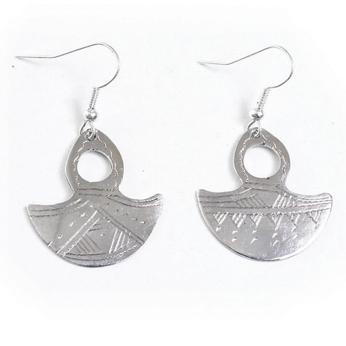 Tuareg Silver Gofed Earrings