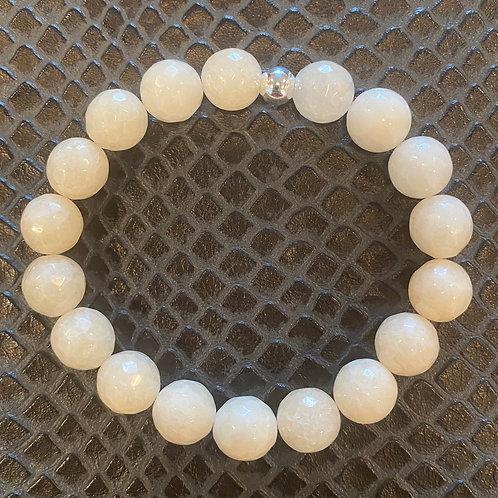 10mm Faceted Quartz Healing Bracelet