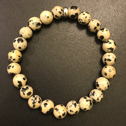 Dalmatian Jasper Healing Bracelet