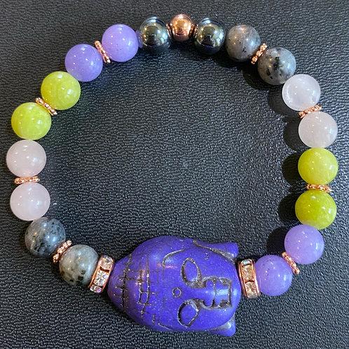 Purple Turquoise Buddha Healing Bracelet