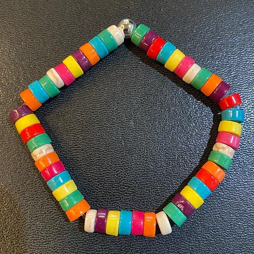 Multicolored Howlite Healing Bracelet