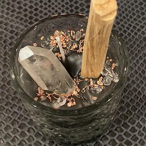 Palo Santo & Sage Clear Quartz & Copper Candle