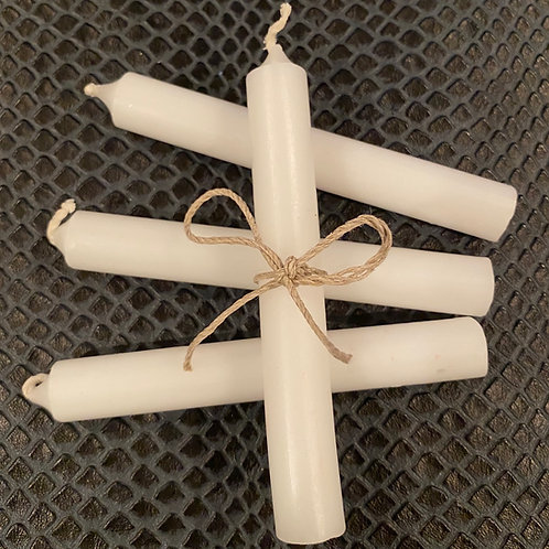 White Healing Candle